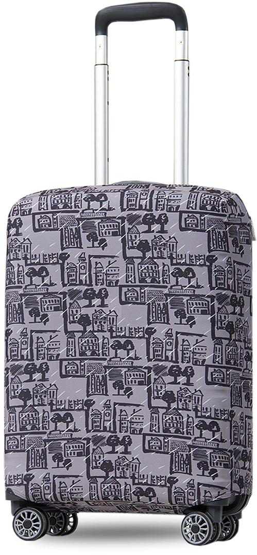 Чехол на чемодан Mettle ART.LEBEDEV. Город, размер S (высота чемодана: 50-55 см)