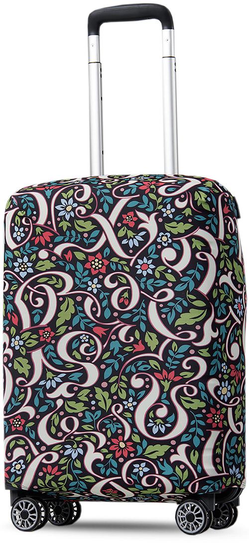 Чехол на чемодан Mettle ART.LEBEDEV. Иллюзия букв, размер S (высота чемодана: 50-55 см)LB-00000437Дизайн чемоданного чехла с умеренно ярким цветочным узором Иллюзиябукв придется по вкусу многим. Узор с фольклорными мотивами довольнострог и классичен, но при этом достаточно свеж и оригинален. Чехол с цветами и фрагментами вензелей будет контрастировать с багажомокружающих, не позволит вам слиться с толпой, подчеркнет индивидуальностьи стиль во всем даже в дороге. Чехол выполнен в темной цветовой гамме, поэтому не маркий, на нем невидны загрязнения. Кроме того, сам материал - плотный и гигроскопичный, ненуждается в частой стирке и каком-либо особом уходе.