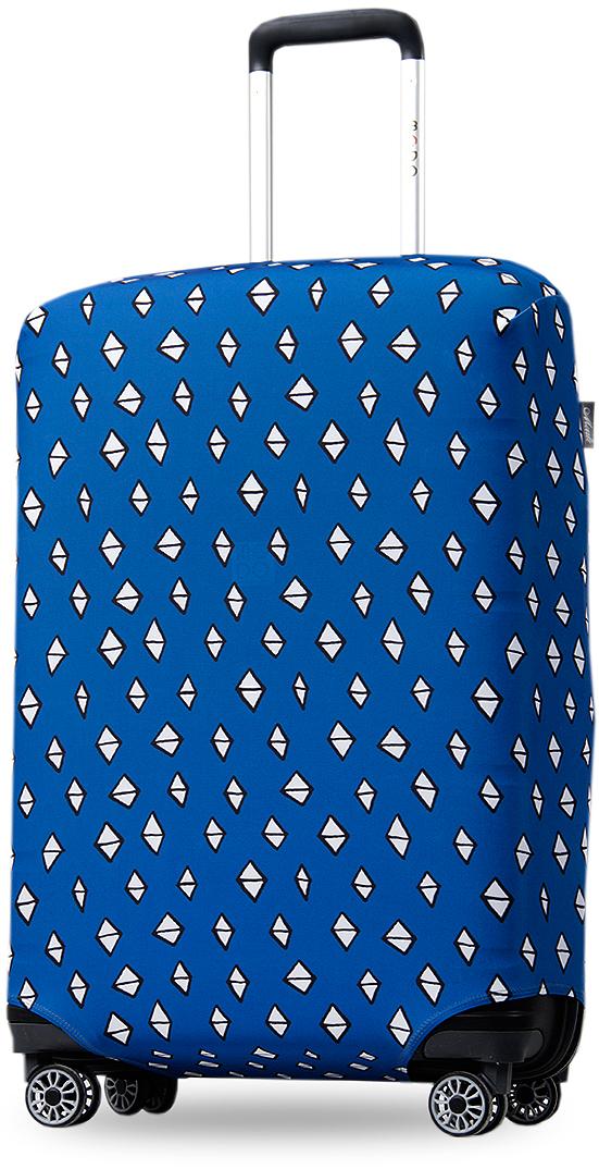 """Чехол на чемодан Mettle """"ART.LEBEDEV. Ромбик"""", размер M (высота чемодана: 65-75 см), ТМ Mettle"""