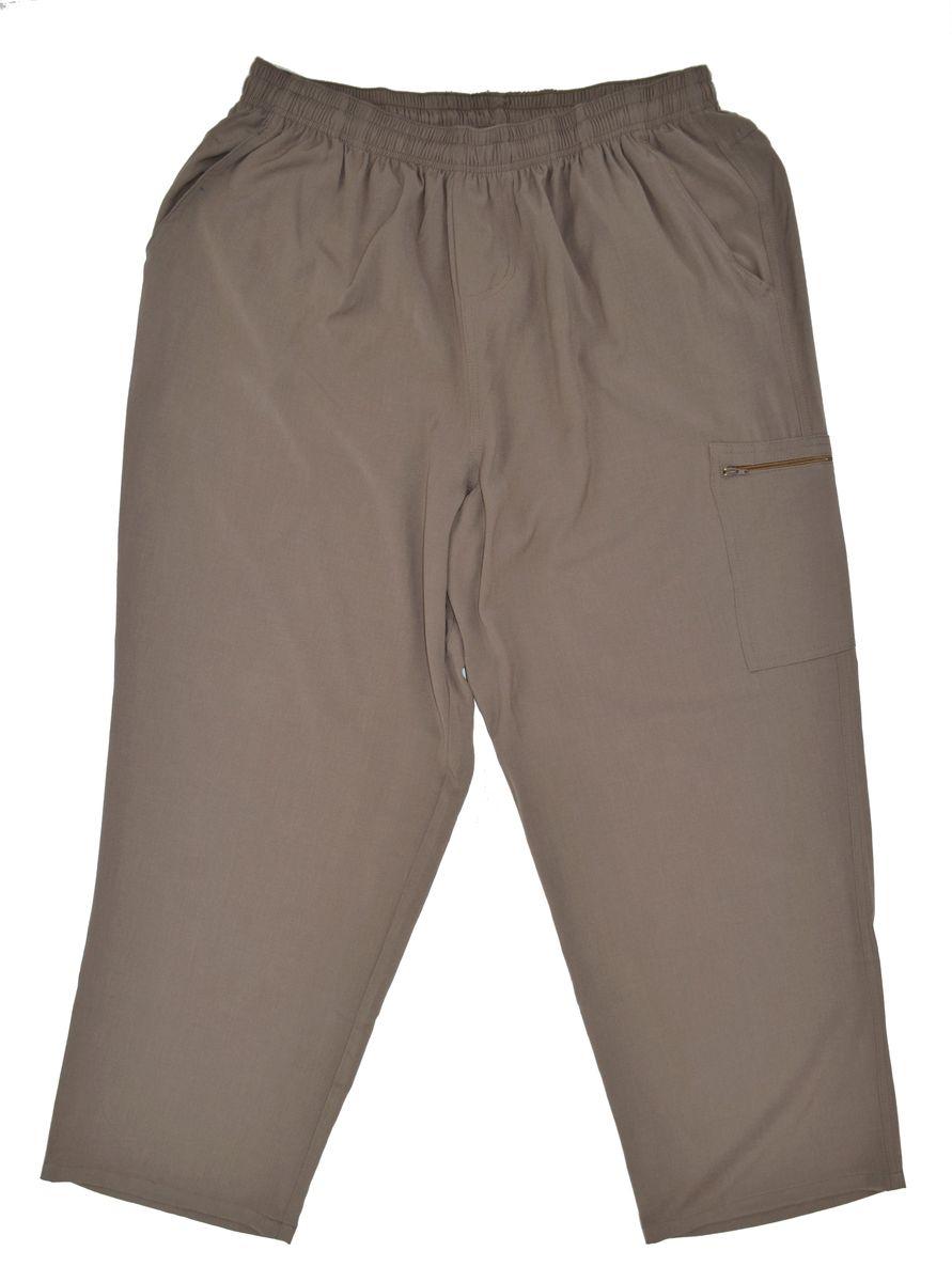 Брюки мужские Armaron, цвет: бежевый. 51Д/беж. Размер 7451Д/бежБрюки от Armaron выполнены из высококачественного хлопкового материала. Модель прямого кроя с эластичной резинкой на талии по бокам дополнена втачными карманами, сзади – карманами с клапанами, сбоку на брючине имеется накладной карман на молнии.