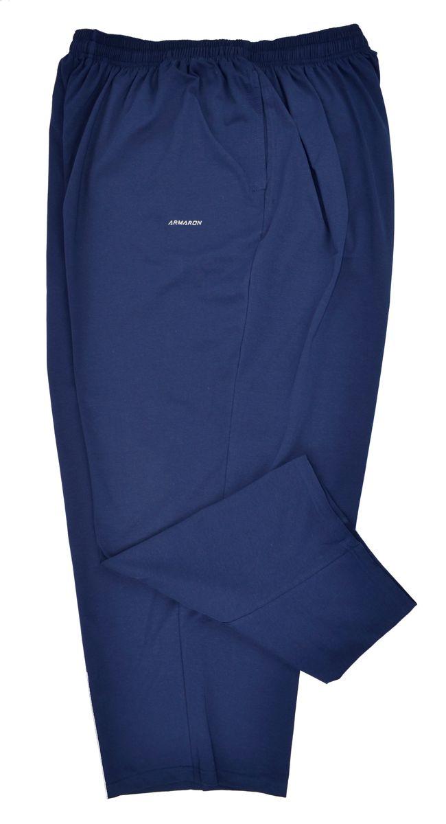 Брюки мужские Armaron, цвет: синий. 2Д/син. Размер 682Д/синБрюки от Armaron выполнены из высококачественного хлопкового трикотажа. Модель прямого кроя с эластичной резинкой на талии по бокам дополнена втачными карманами.