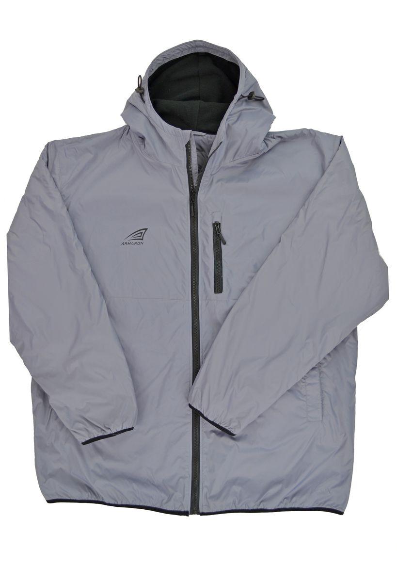 Куртка мужская Armaron, цвет: серый. В-109/с. Размер 74В-109/сКуртка от Armaron выполнена из 100% полиэстера с легким утеплителем. Модель с длинными рукавами и капюшоном застегивается на молнию. По бокам дополнена втачными карманами, на груди - кармашком на молнии.