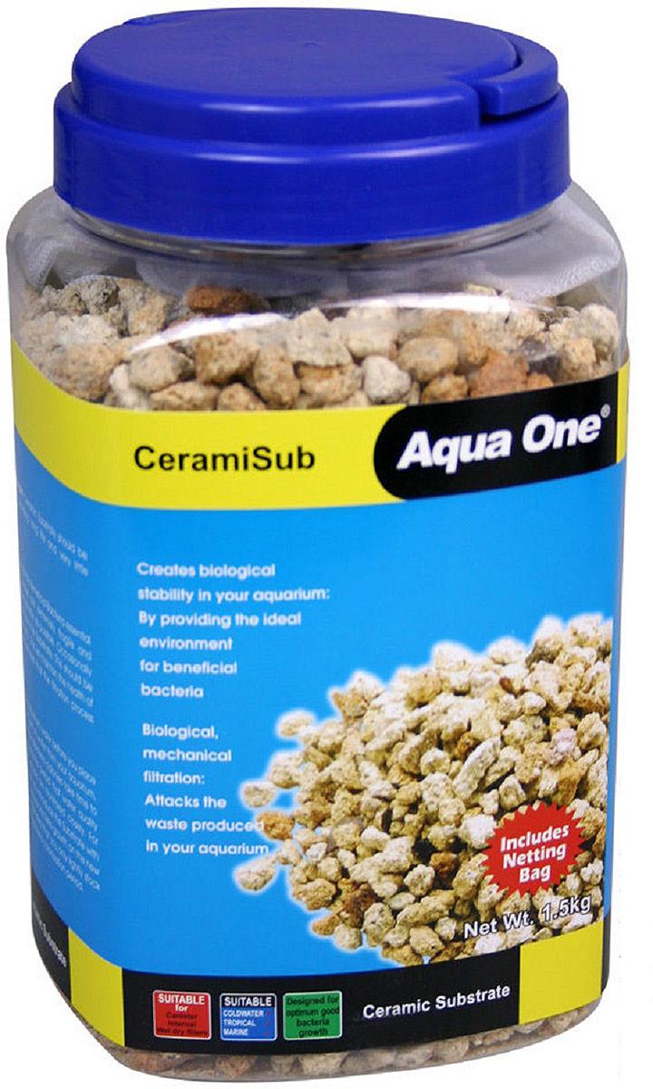 Наполнитель для фильтров Aqua One CeramiSub, 1500 г кольца керамические aqua one premiumnood 640 г