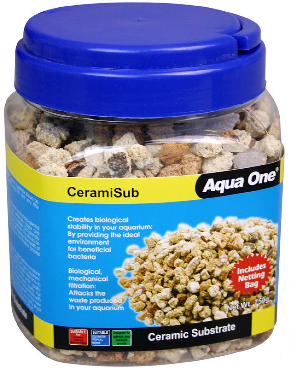 Наполнитель для фильтров Aqua One CeramiSub, 750 г кольца керамические aqua one premiumnood 640 г