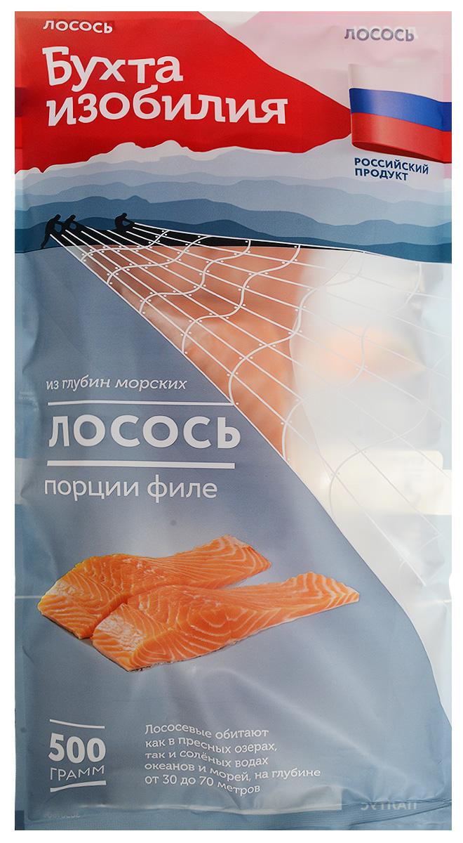 Бухта Изобилия Лосось (Семга) филе с кожей, 500 г бухта изобилия очищенные креветки 200 300 варено мороженые 200 г