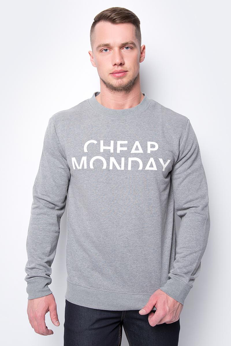 Свитшот мужской Cheap Monday, цвет: серый. 0543923. Размер L (50)