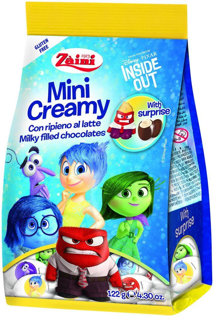 Zaini Mini Creamy Inside Out конфеты шоколадные с молочной кремовой начинкой и сюрпризом внутри, 122 г пудовъ кексики шоколадные 250 г