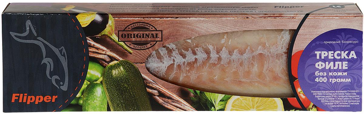Flipper Треска, филе без кожи, 400 г