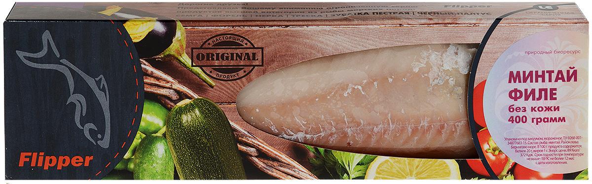 Flipper Минтай, филе без кожи, 400 г agama судак филе 400 г