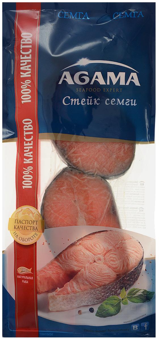 Agama Семга, стейк замороженный, 400 г