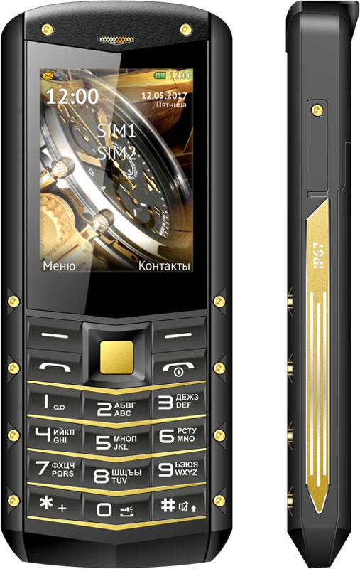 "Texet TM-520R, Black YellowTM-520R-BKYМобильный телефон Texet TM-520R black-yellow 2.4"" TN/240х320/2Sim/BT/FM/2Mp/microSD/IP67/2000mAh"