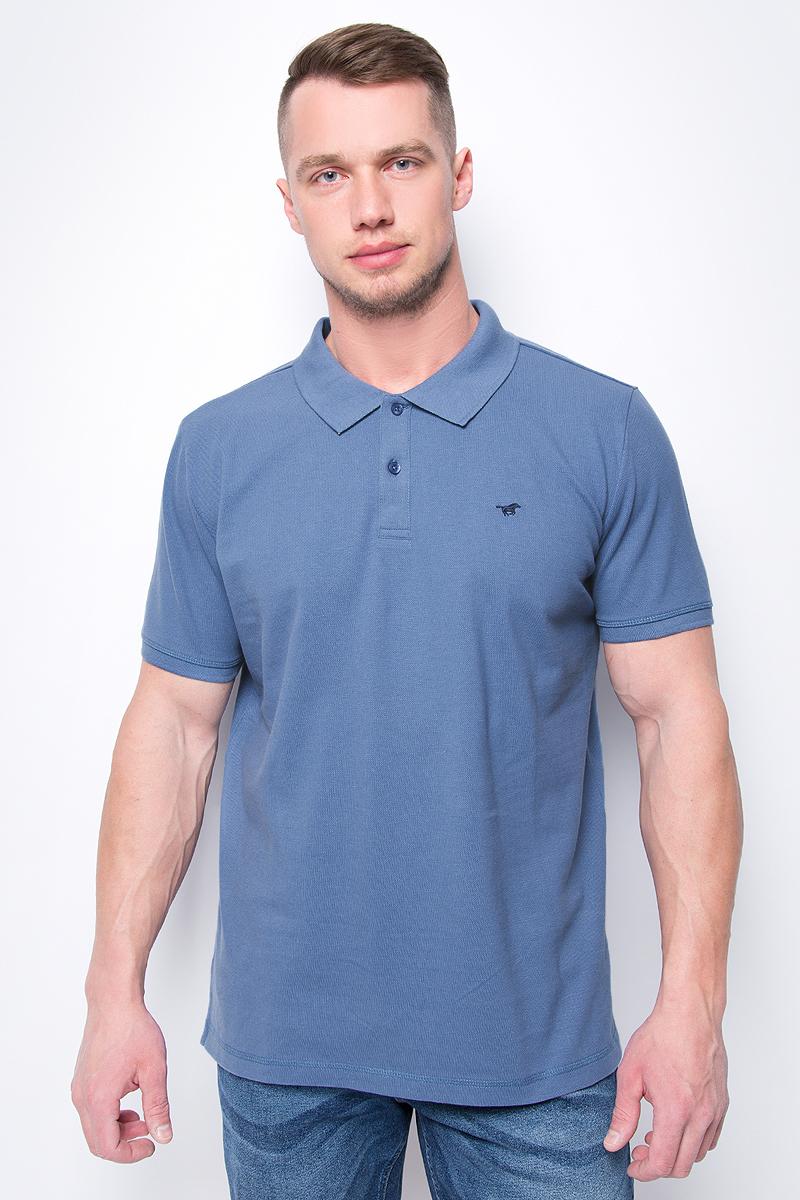 Поло мужское Mustang Men T-Shirt 1/2 Sleeve, цвет: синий. 1005837-5169. Размер 3XL (56) поло мужское mustang men t shirt 1 2 sleeve цвет синий 1005837 5226 размер 3xl 56