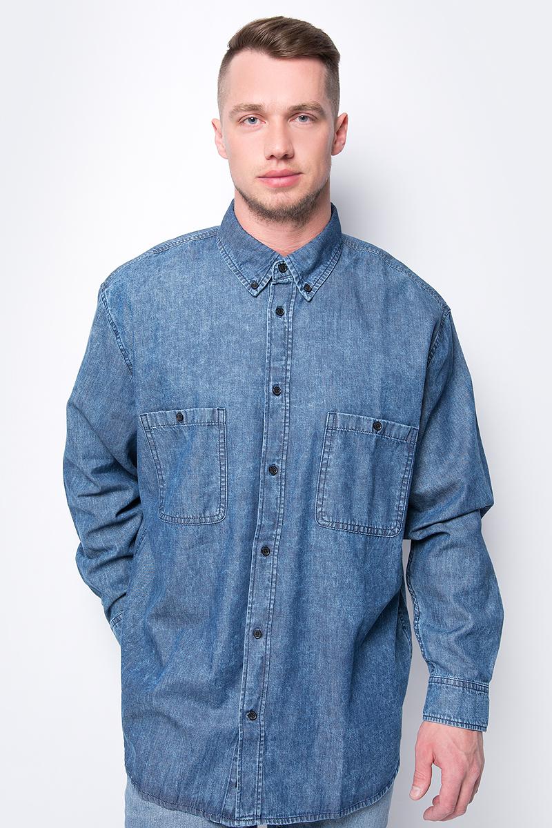 Рубашка мужская Cheap Monday, цвет: голубой. 0527823. Размер M (48)