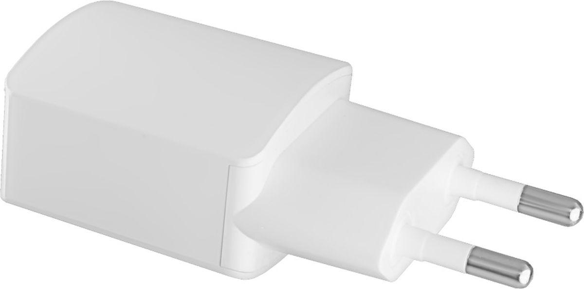 Ginzzu GA-3003W, White сетевое зарядное устройство (1,2 A) сетевое зарядное устройство ginzzu ga 3618b для acer iconia tab 12v 1 5a