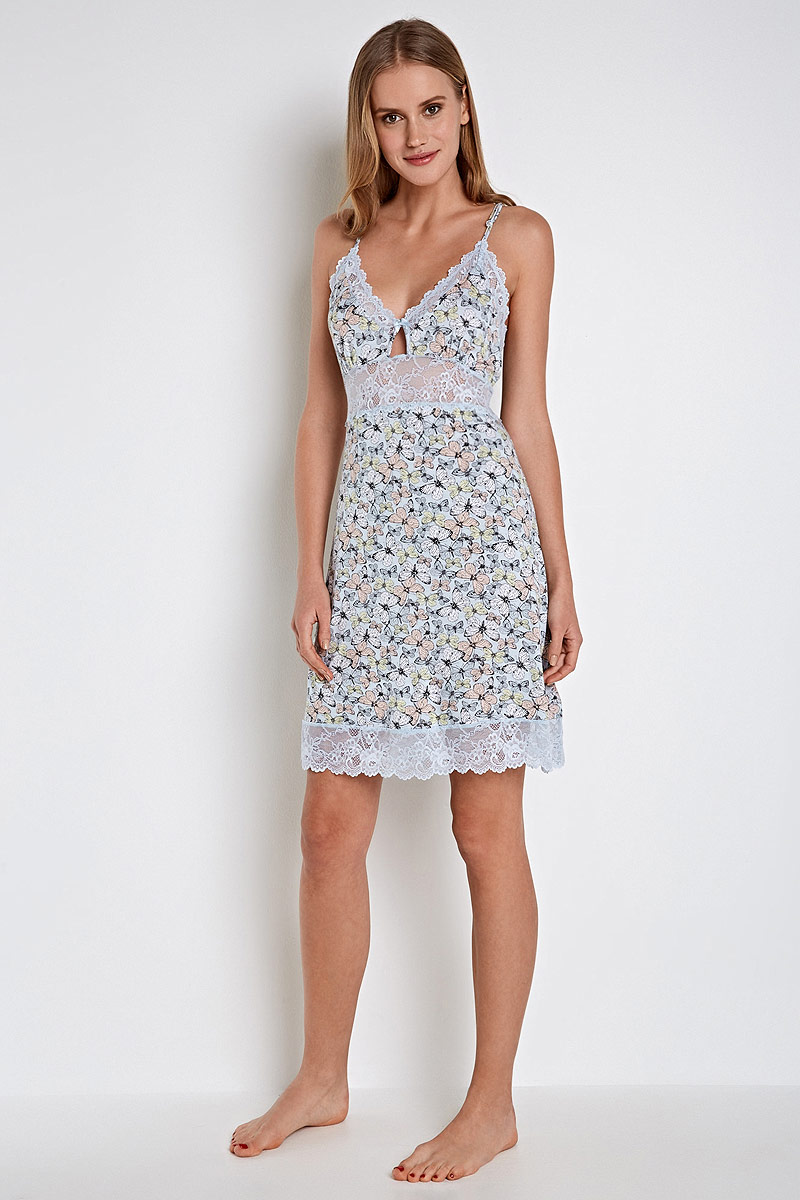 Ночная сорочка Infinity Lingerie Delfa, цвет: голубой. 31204270102_9000. Размер XL (50) сорочка ночная infinity lingerie infinity lingerie in013ewwna21