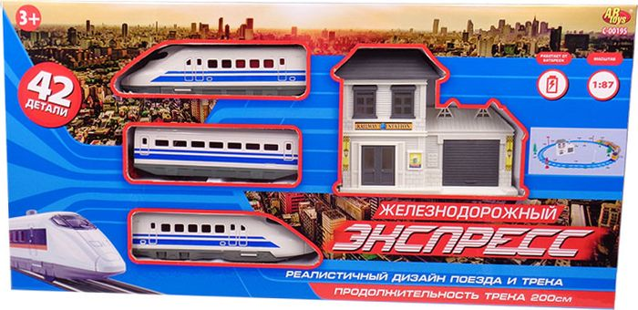 ABtoys Железная дорога Экспресс C-00195 kitchenaid набор прямоугольных чаш для запекания 0 45 л 2 шт красные
