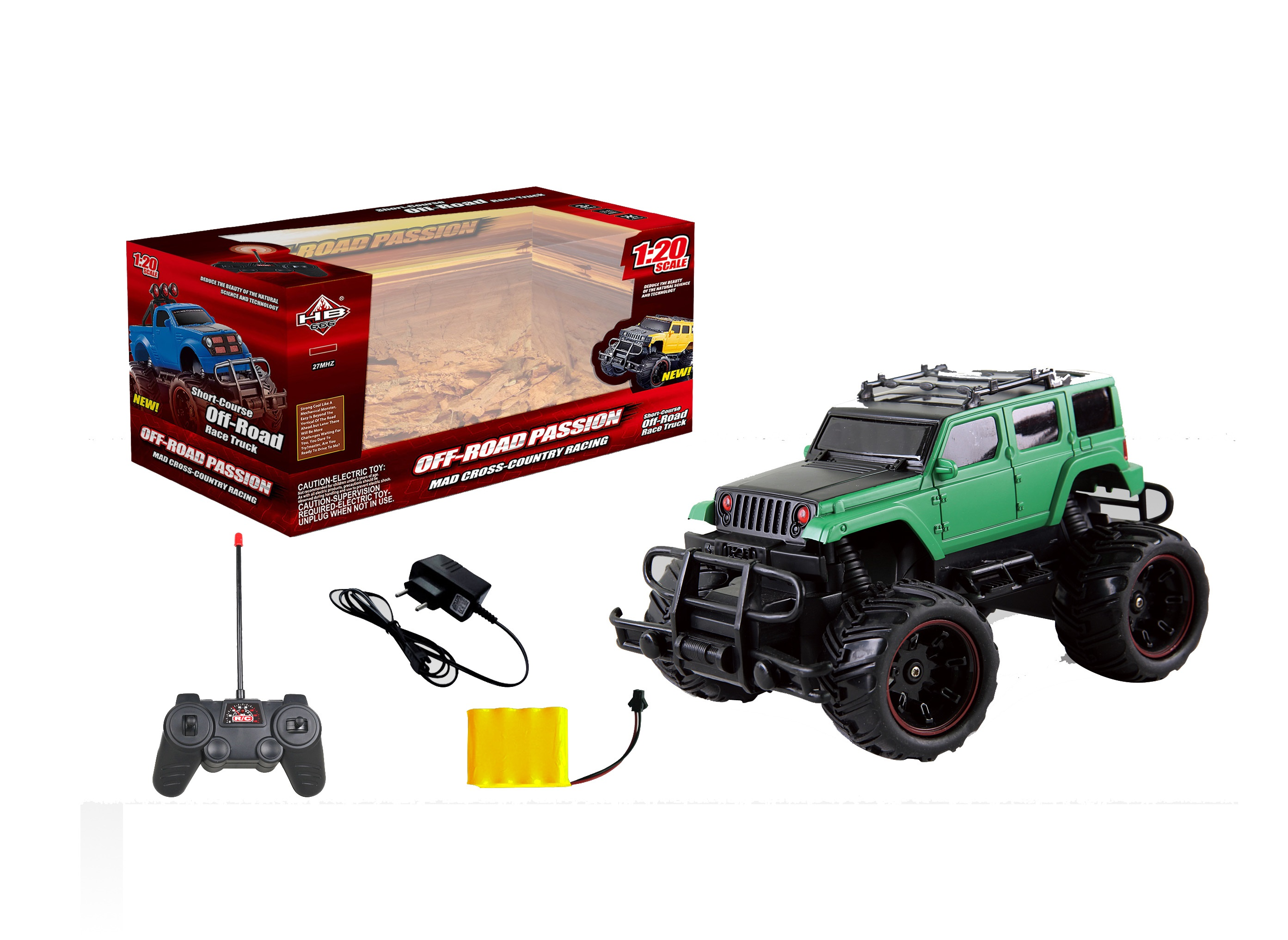Junfa Toys Внедорожник на радиоуправлении цвет зеленый черный