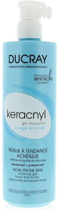Ducray Очищающий пенящийся гель Keracnyl, 400 мл