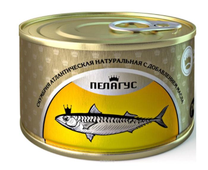 Пелагус сайра тихоокеанская натуральная с добавлением масла №5, 230 г горбуша вкусные консервы натуральная 245г