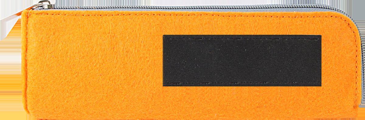 Feltrica Пенал цвет оранжевый черный4627130650842Удобный аксессуар из фетра, подчеркнет индивидуальность своего обладателя и станет незаменимым помощником в повседневной жизни.