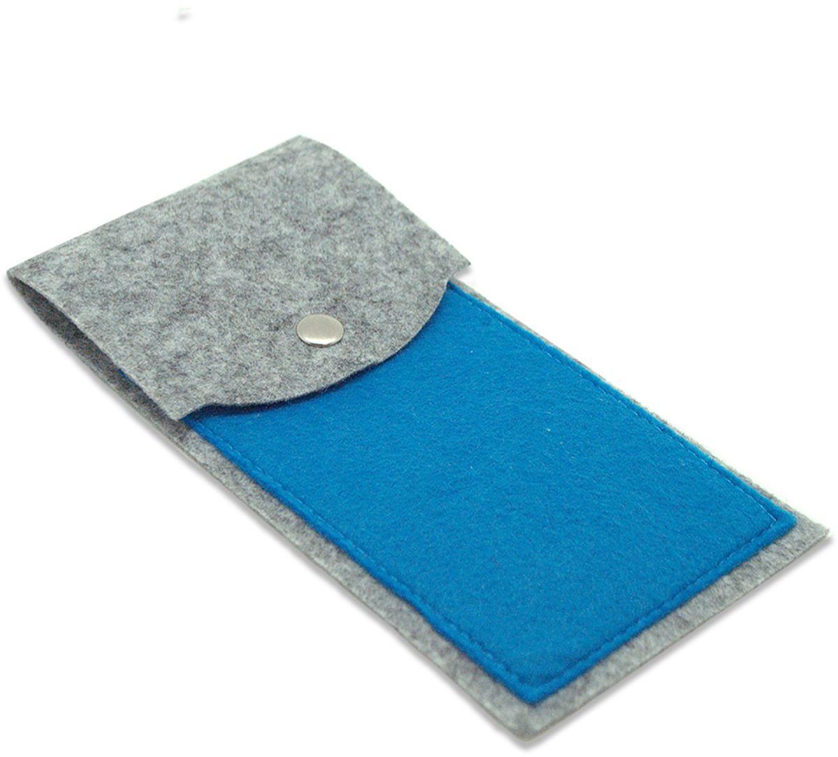 Feltrica Пенал цвет серый синий4627130655007Удобный аксессуар из фетра, подчеркнет индивидуальность своего обладателя и станет незаменимым помощником в повседневной жизни.
