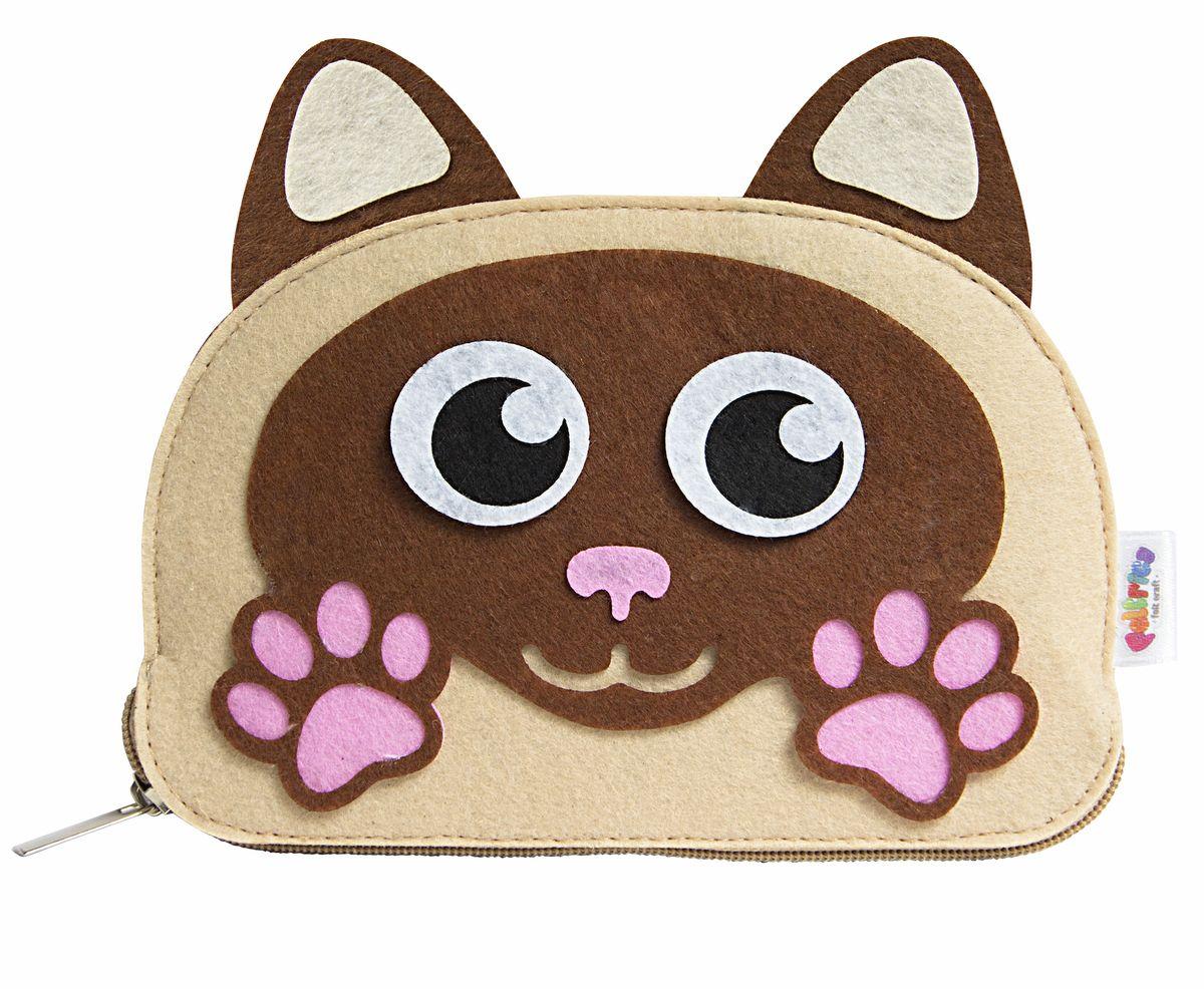 Feltrica Пенал Кот цвет бежевый розовый коричневый пеналы mprinz пенал owl