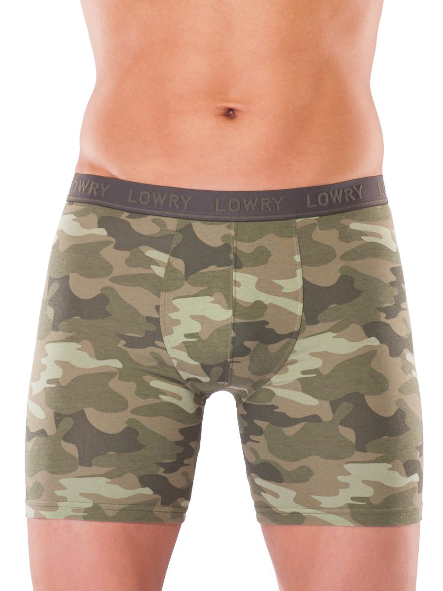 Трусы-боксеры мужские Lowry, цвет: оливковый. MSHL-454. Размер XXL (50/52) трусы lowry трусы 3 шт