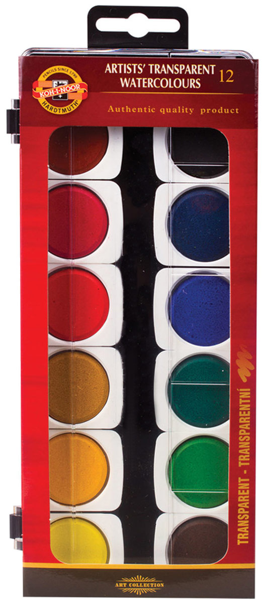 Koh-i-Noor Акварель лессировочная 12 цветов цены