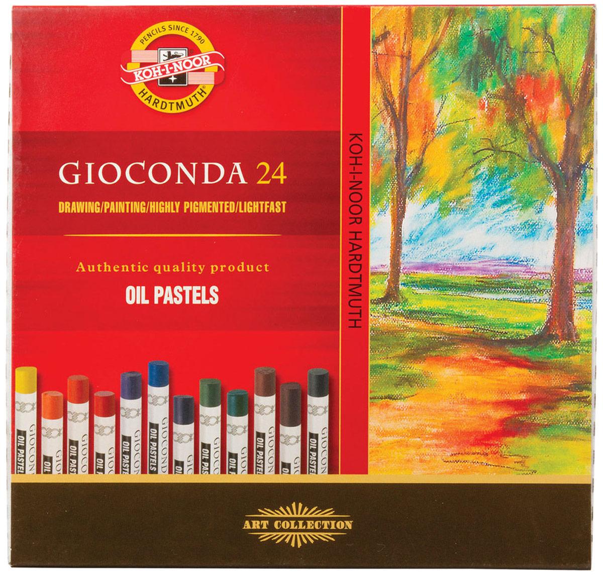 Koh-i-Noor Пастель масляная Gioconda 24 цветов8354024001KSМасляная пастель идеально подходит для различных художественных техник рисования. Легко растираемая, растворяется уайт-спиритом или другим растворителем.