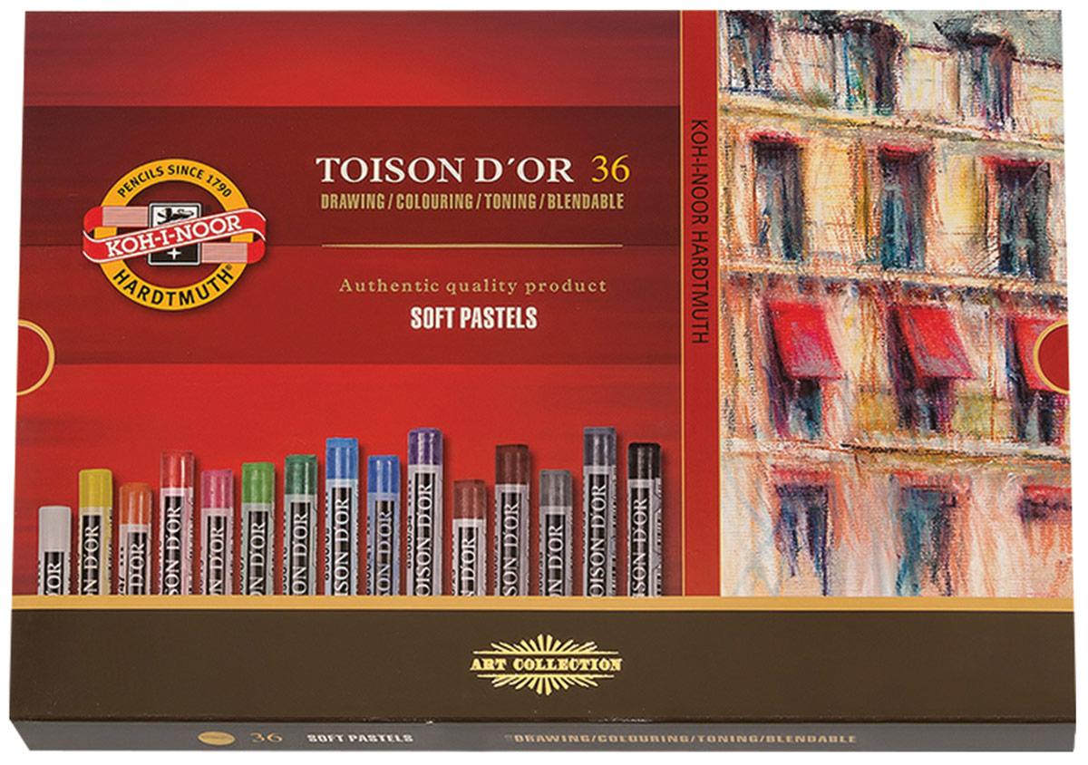 Koh-i-Noor Пастель мягкая Toison D'or круглое сечение 36 цветов -  Мелки и пастель