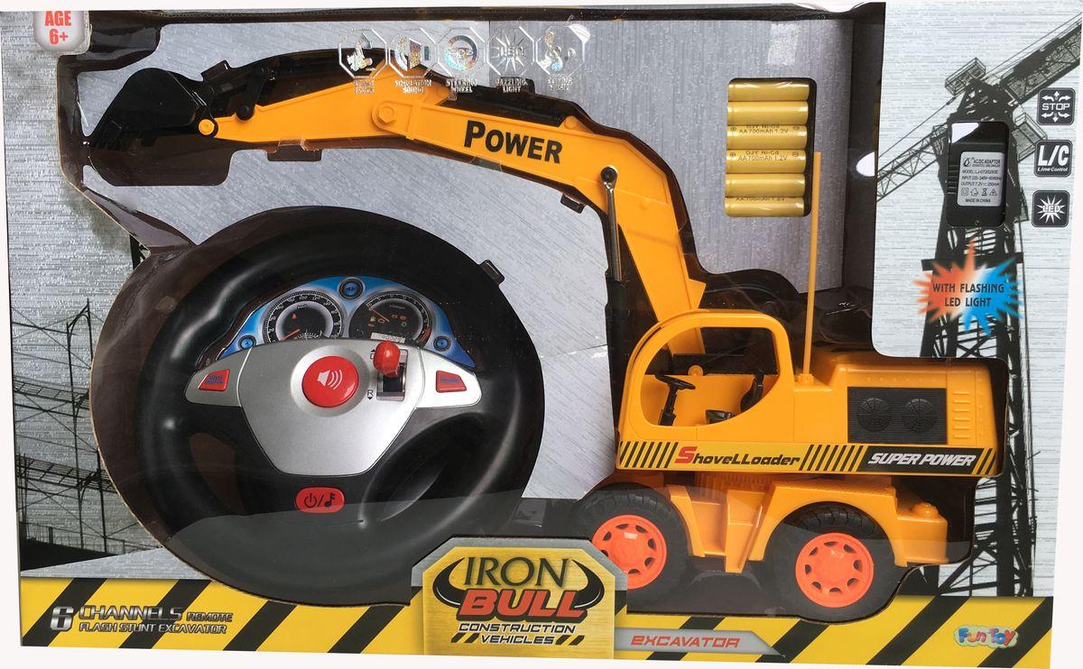 Fun Toy Экскаватор на радиоуправлении 44427 wooden fun ball puzzle toy for kids wood