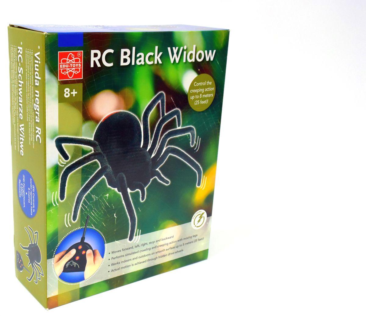 Edu-Toys Паук на радиоуправлении Черная вдова радиоуправляемый робот паук keye toys space warrior с пульками