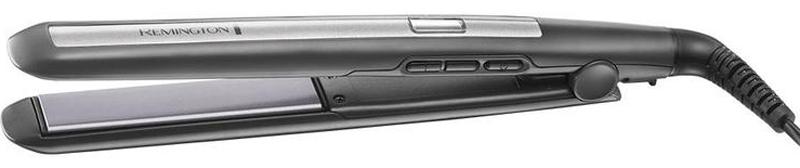 Remington S5506GP, серый Выпрямитель для волосS5506GPУсовершенствованные титановые пластины с керамическим покрытиемЦифровой дисплейРегулировка температуры 150?C - 230?CБлокировка выбранной температуры/максимальный нагрев одним нажатиемНагрев за 15 секундТонкие пластины длинной 110 мм Плавающие пластиныБлокировка пластинАвтоматический выбор напряженияАвтоотключение через 60 минутПоворотный шнурКосметическая сумка, щетка, зеркало, 2 зажима для волос 3 года гарантии.