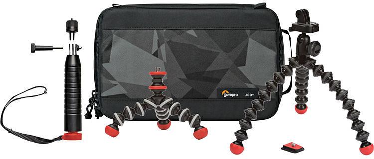 Joby Action Base Kit стартовый набор для экшн-камер с чехлом аксессуар joby action mini pivot arm