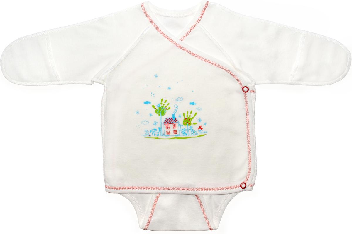 Боди детское Мамуляндия, цвет: молочный. 18-0101. Размер 56 боди детский мамуляндия 17 107 молочный р 56