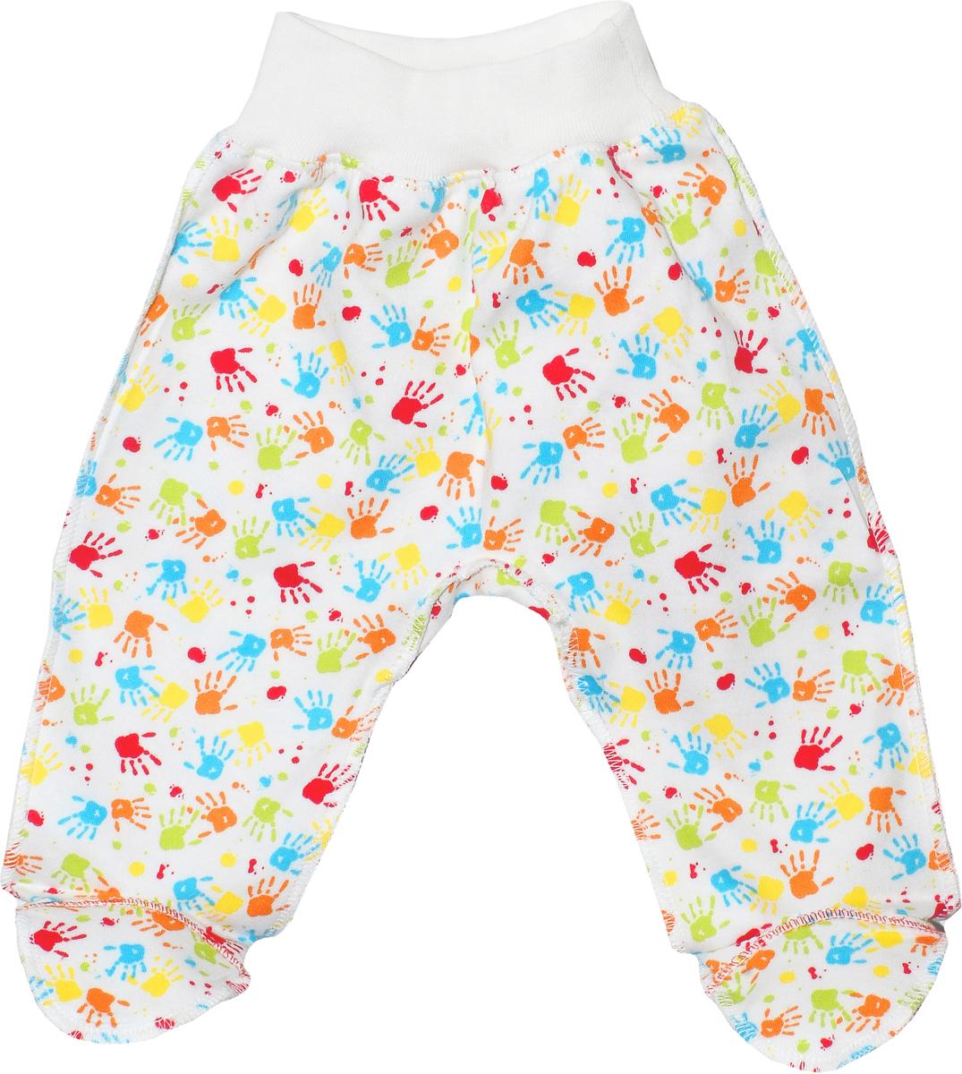 Ползунки детские Мамуляндия, цвет: разноцветный. 18-0105. Размер 56