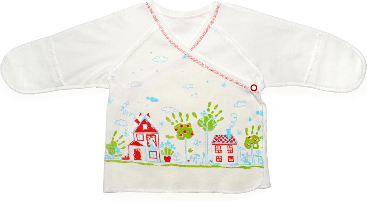 Распашонка детская Мамуляндия, цвет: молочный. 18-0103. Размер 56 распашонка детская морозко фланель 18