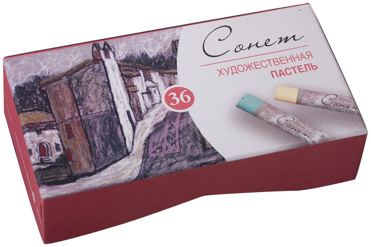 Невская палитра Пастель сухая Сонет 36 цветов карандаши восковые мелки пастель сонет пастель художественная 48 цветов