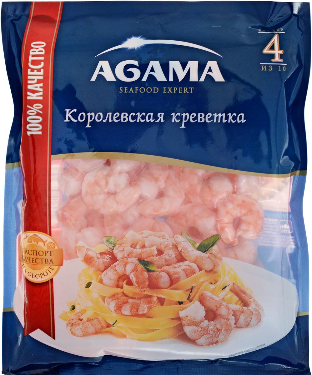 Agama Королевские Креветки №4 для пасты очищенные, варено-мороженые, 300 г