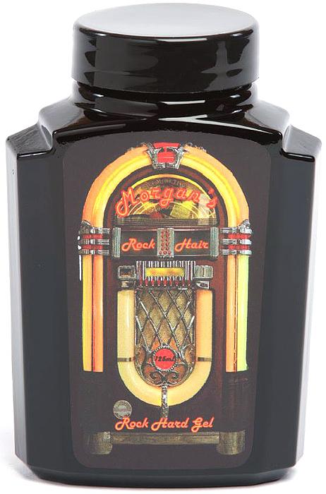 Morgans Гель для укладки волос Rock Hard Gel, 125 млM022Гель экстра-сильной фиксации идеально подойдет для укладок рокабилли. Гель Morgans Rock Hard Gel поставляется в крутой стеклянной черной банке в стиле музыкальных автоматов JukeBox. За счет экстра-сильной фиксации гель поможет создать высокие, очень стойкие укладки.