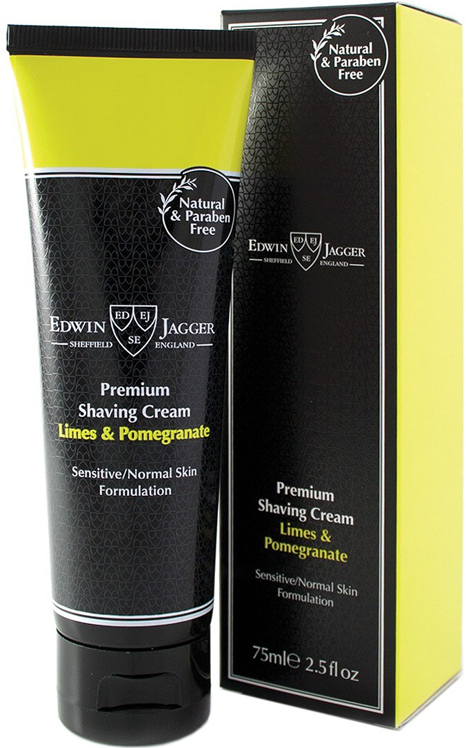 Edwin Jagger Крем для бритья Lime & Pomegranate, 75 мл ahava time to energize крем для бритья без пены time to energize крем для бритья без пены