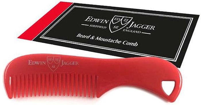 Edwin Jagger Расческа для бороды и усов, цвет: красный водолазка alina assi водолазка