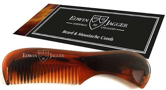 Edwin Jagger Расческа для бороды и усов, цвет: панцирь черепахи dear beard щетка из древесины венге для усов и бороды 8 4 см