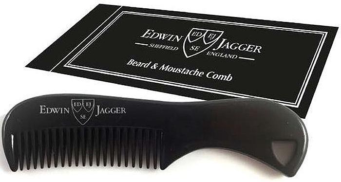 Edwin Jagger Расческа для бороды и усов, цвет: черный dear beard щетка из древесины венге для усов и бороды 8 4 см