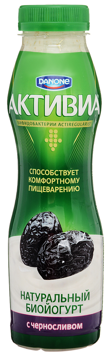 Активиа Биойогурт питьевой Чернослив 2%, 290 г активиа биопродукт творожно йогуртный малина 4 2