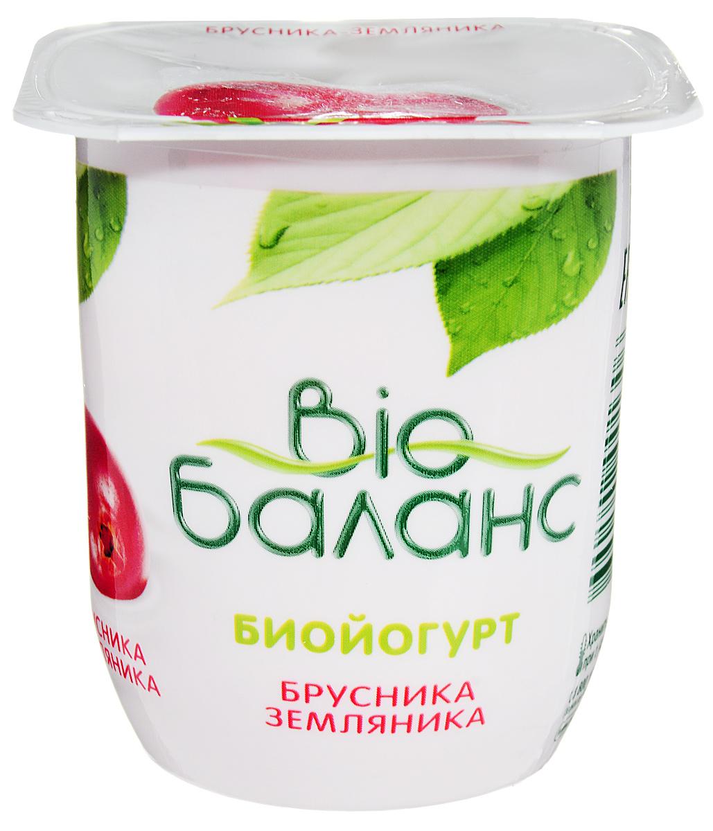 Био-Баланс Биойогурт густой обогащенный Брусника земляника 2,8%, 125 г био баланс биойогурт злаки 1 5% 330 г