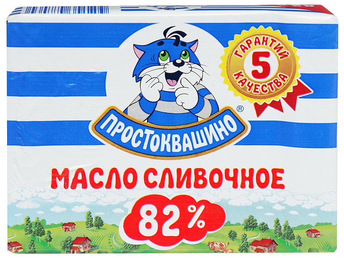 Простоквашино Масло сливочное 82%, 180 г president масло кисло сливочное несоленое 82 5% 200 г