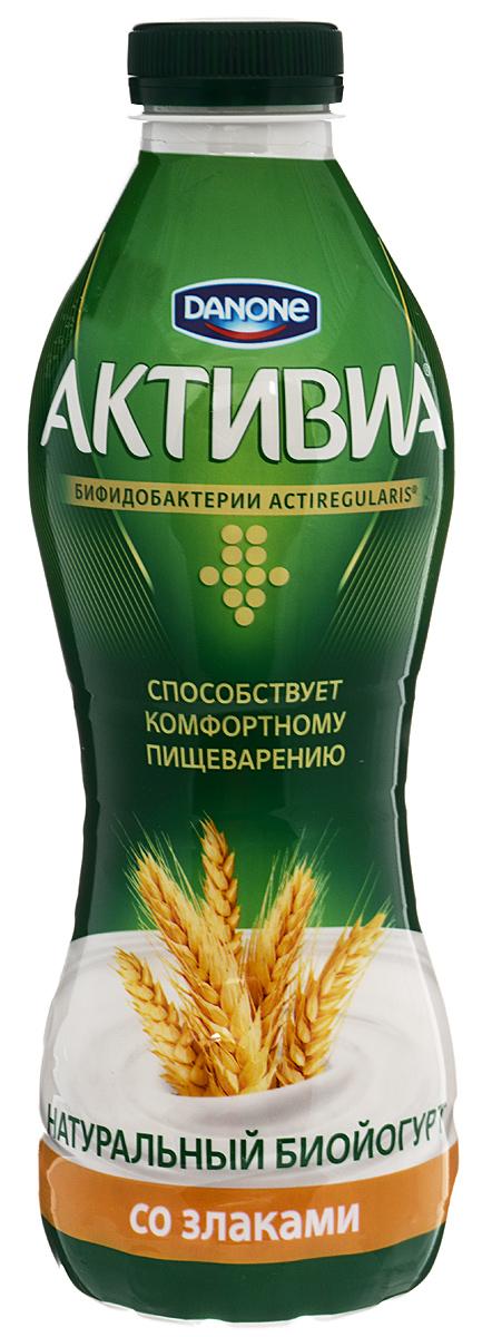 Активиа Биойогурт питьевой 2,4%, 870 г активиа биопродукт творожно йогуртный малина 4 2