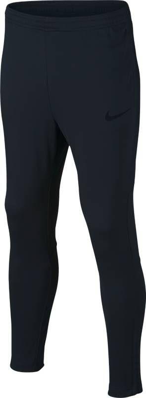 Брюки спортивные для мальчика Nike Dry Academy, цвет: черный. 839365-016. Размер M (140/146)839365-016Детские футбольные брюки Nike Dry из мягкого влагоотводящего материала с зауженным кроем обеспечивают свободу движений и не ограничивают обзор мяча, чтобы ты мог успешно атаковать на полной скорости. Ткань Nike Dry эффективно отводит влагу от кожи. Боковые карманы на молнии надежно хранят важные мелочи, когда ты на поле. Облегающий крой с зауженными штанинами для снижения объема модели. Эластичный пояс с контрастной подкладкой и утягивающим шнурком обеспечивает надежную индивидуальную посадку. Легендарные боковые полоски Nike Football из дышащей сетки.
