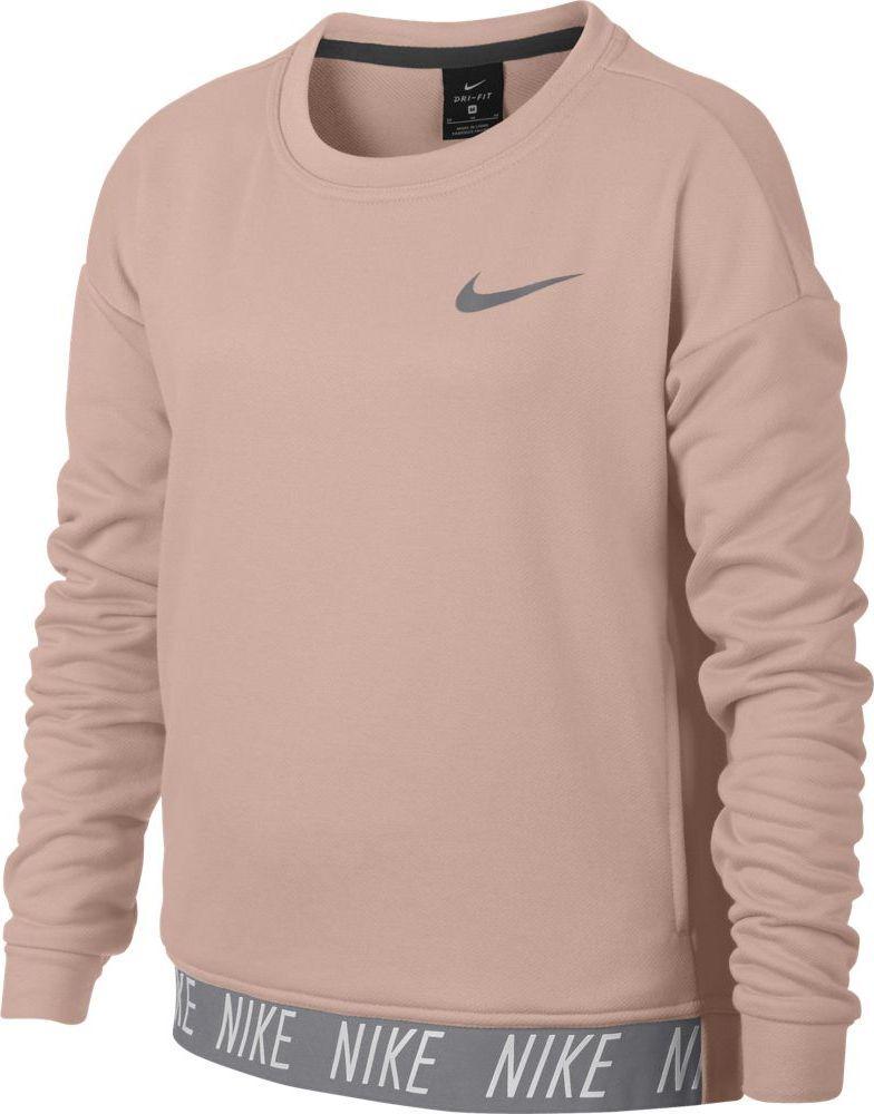 Свитшот для девочки Nike Dry, цвет: розовый. 890281-814. Размер XL (158/170) свитшот мужской nike nike цвет голубой